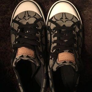 *Like New* Coach Barrett Blk/Gry Monogram Sneaker